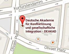 Bild: Routenplanung zur DEAKAD - Kurfürstendamm 182 - D 10707 Berlin
